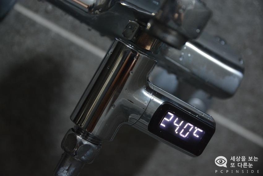 [내돈내리] 배터리 필요없이 물 온도를 알려주는 LED 샤워 온도계