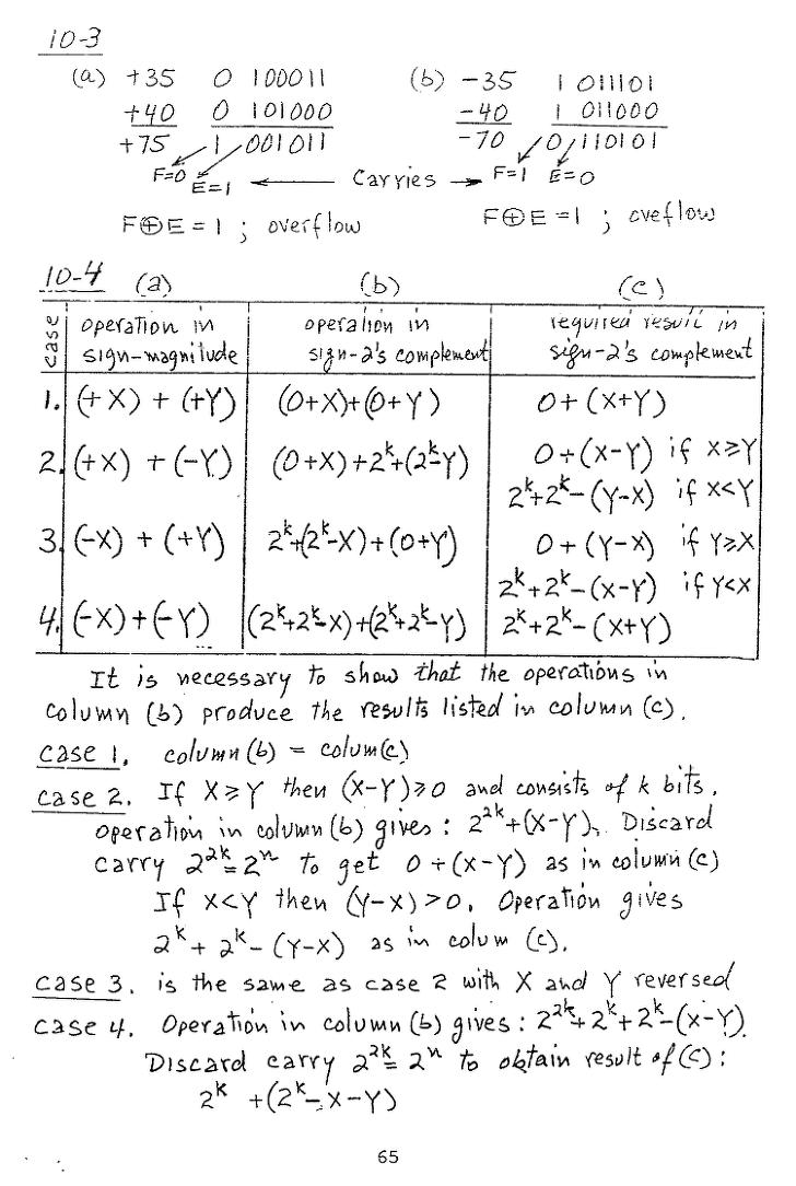 컴퓨터구조 연습문제, 모리스 마노 챕터10 65