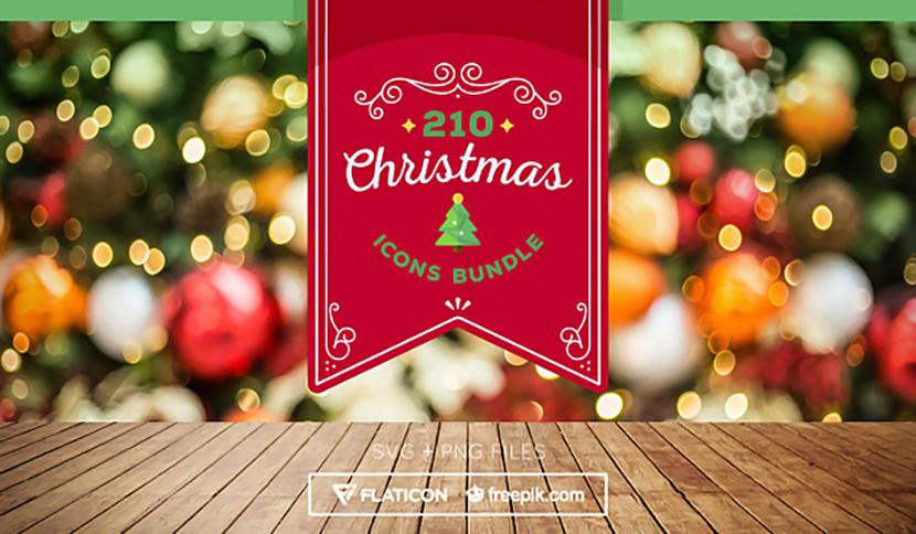 크리스마스를 즐기는 산타와 순록 귀여운 아이콘 세트 SGV PNG