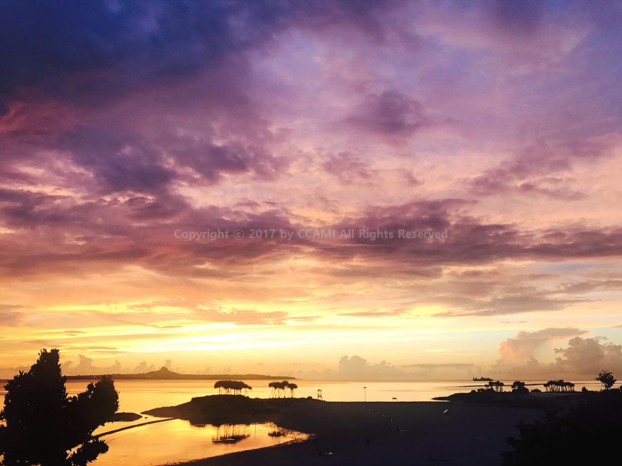 오키나와, 오키나와 여행, 오키나와 북부, 에메랄드 비치, 맵코드, 노을, 석양, 선셋, 선셋 포인트, 에메랄드 비치 맵코드, 까미, CCAMI, OKINAWA, Emerald beach, sunset