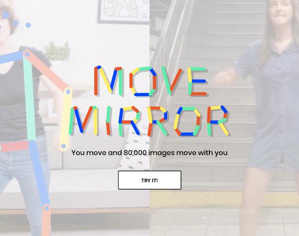 같은 동작의 사진을 실시간으로 찾아주는...구글의 인공지능 실험 무브 미러